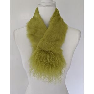 Real rabbit fur collar scarf